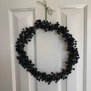 Faux Blueberry Wreath